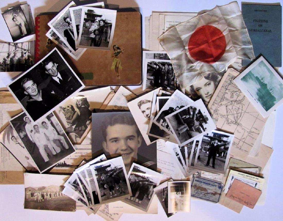 WWII Navy Archive Iwo Jima Transcript 300 Piece Lot