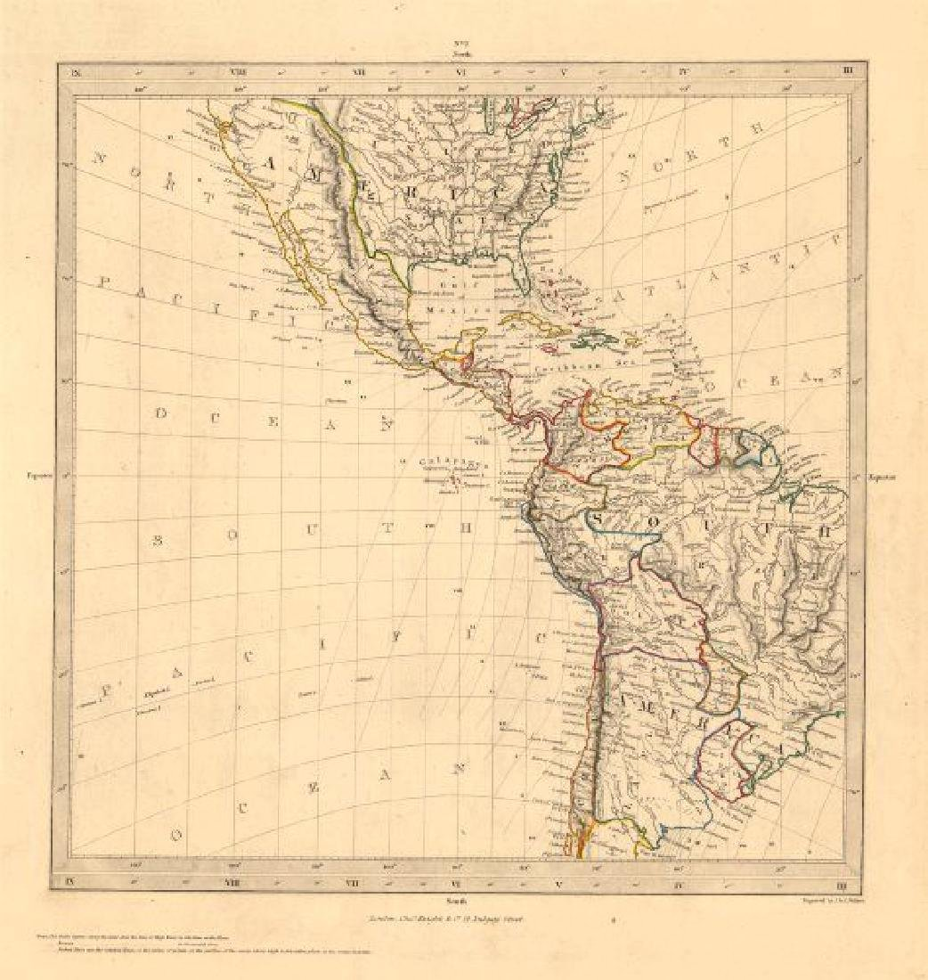 SDUK: Antique Map of the Americas, Gnomonic Projection