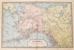 Cram: Antique Map of Alaska, 1899