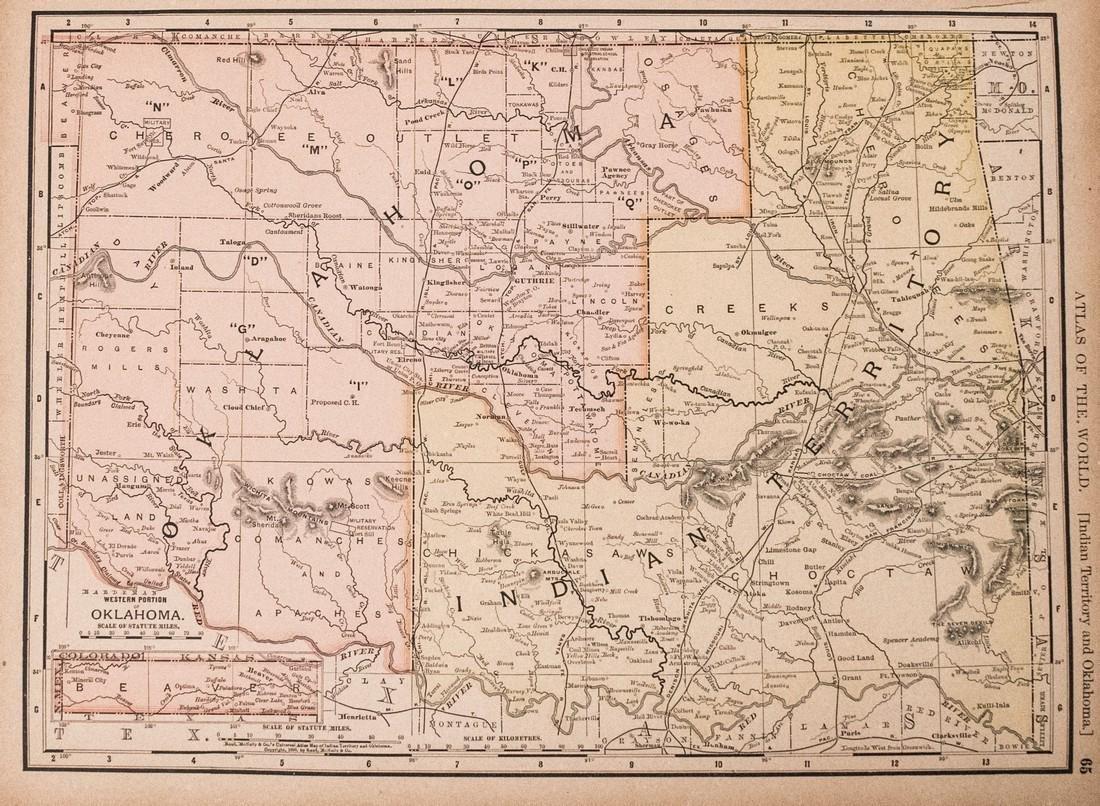 Rand McNally: Antique Map of Texas, 1894 - 2