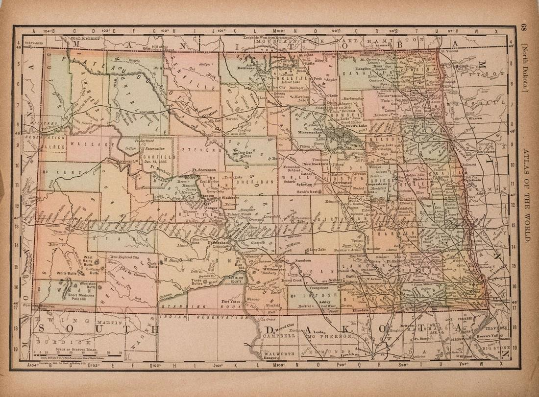 Rand McNally: Antique Map of Texas, 1894 - 3