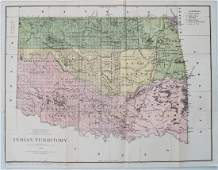 General Land Office: Antique Map of Indian Territory