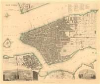 SDUK: Antique Map of New York City, 1847