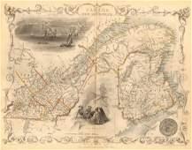 Tallis/Rapkin: Antique Map East Canada & New Brunswick