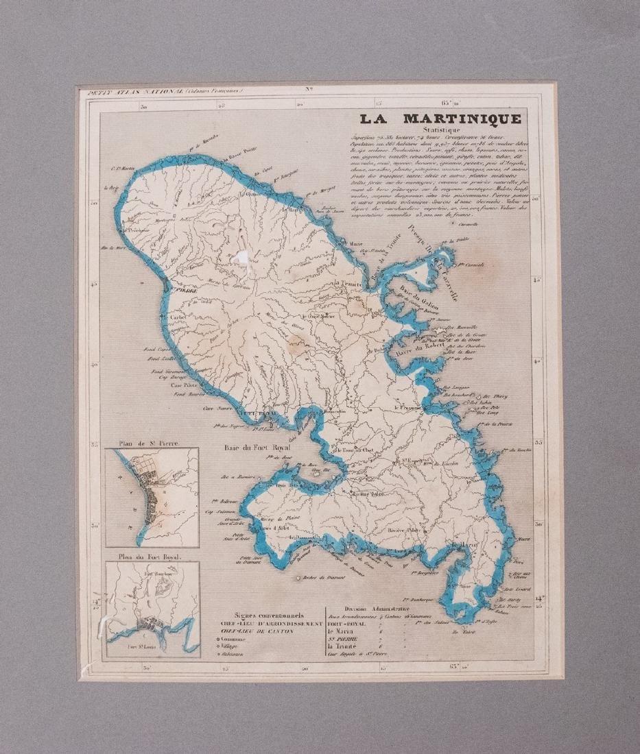 Monin: Antique Map of Martinique, 1837