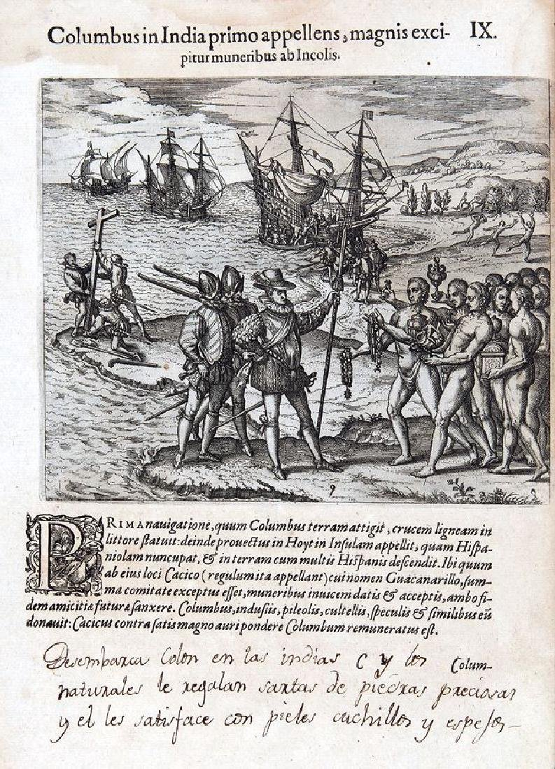 de Bry/Benzoni: Columbus in Hispaniola, 1594
