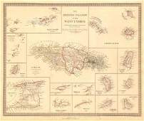 SDUK: Antique Map of the West Indies Islands, 1846