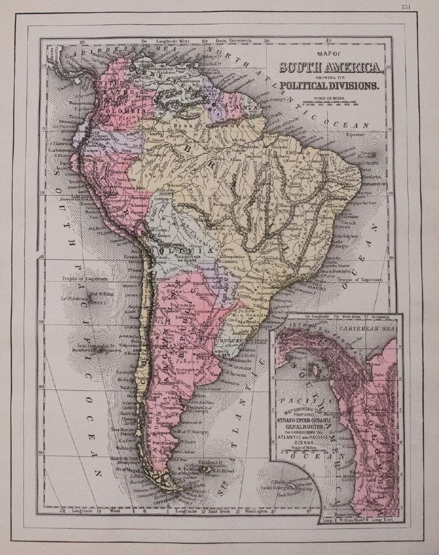 Smith: Antique Map of South America, 1894