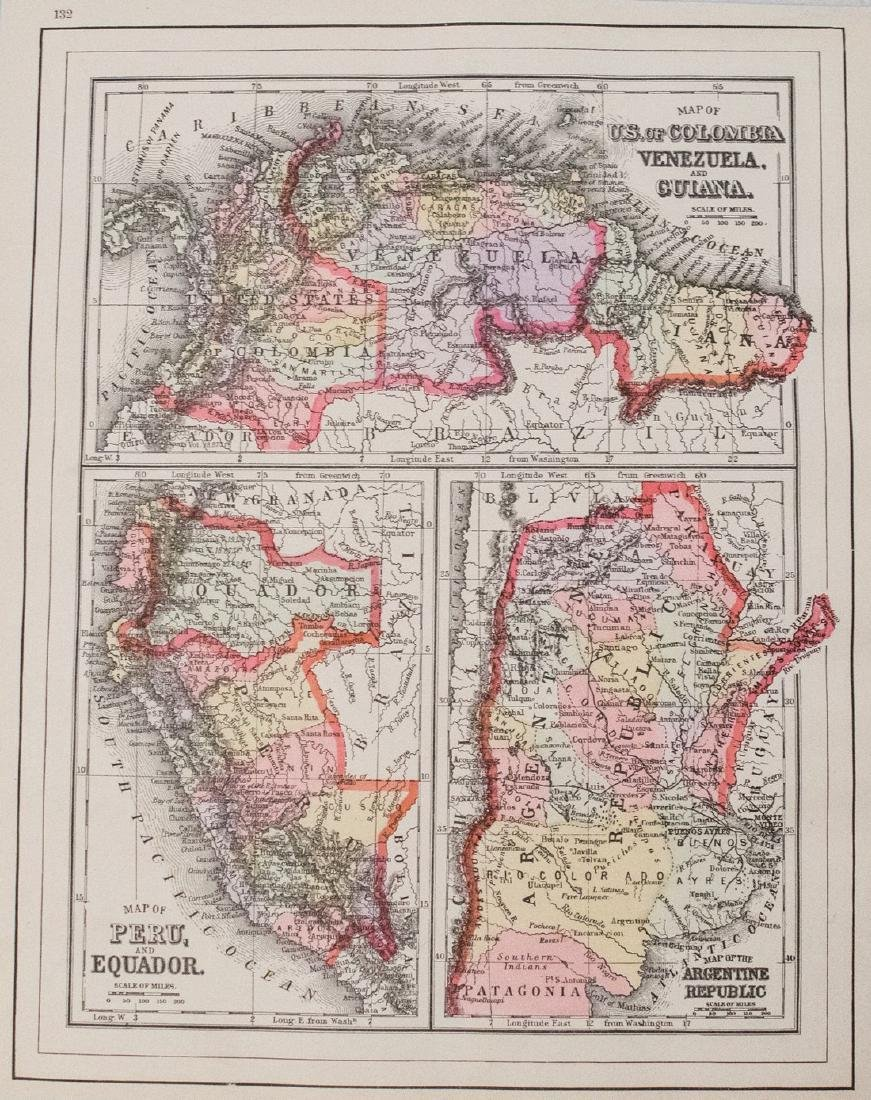 Smith: Antique Map of South America, 1894 - 2