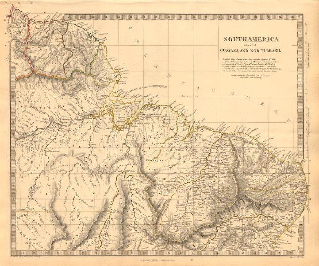 SDUK: Antique Map of Amazonia, South America, 1846