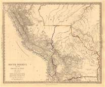 SDUK: Antique Map of Bolivia & Peru, 1846