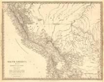 SDUK: Antique Map of Bolivia & Peru, 1848