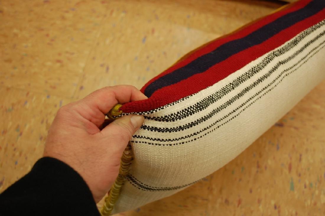 2 Antique Kilim Rug Wool Pillows 1.4x1.9 - 4