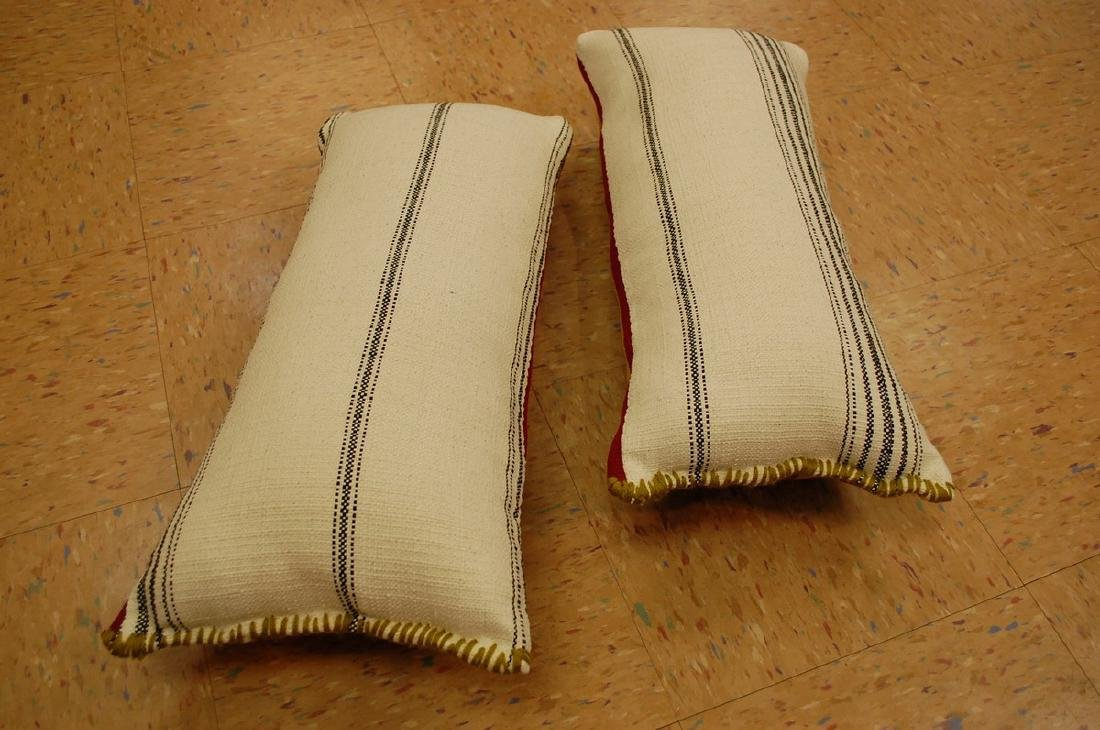 2 Antique Kilim Rug Wool Pillows 1.4x1.9 - 5