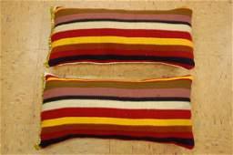 2 Antique Kilim Rug Wool Pillows 1.4x1.9