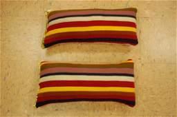 2Antique Kilim Rug Wool Pillows 1.4x1.9