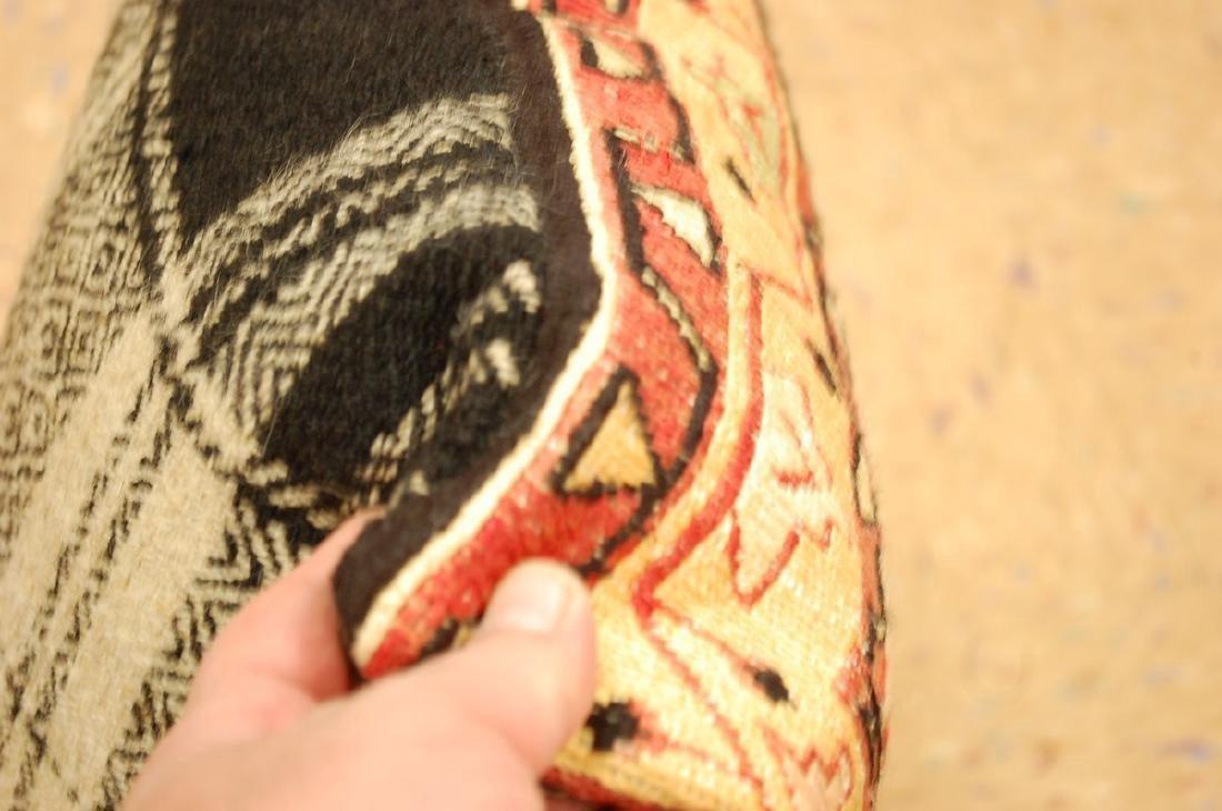 Detailed Fine Silk Sumak Kilim Rug Wool Pillow 1.7x1.7 - 4