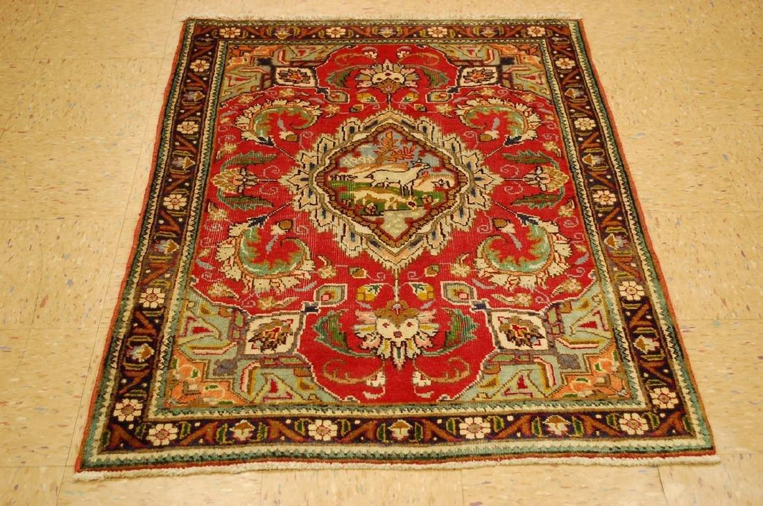 Persian Tabriz Rug 3.3x4.7