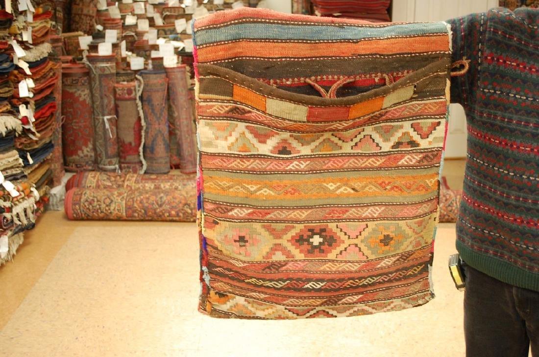 Functional Caucasian Soumak Cargo Horse Camel Bag 2x5 - 6