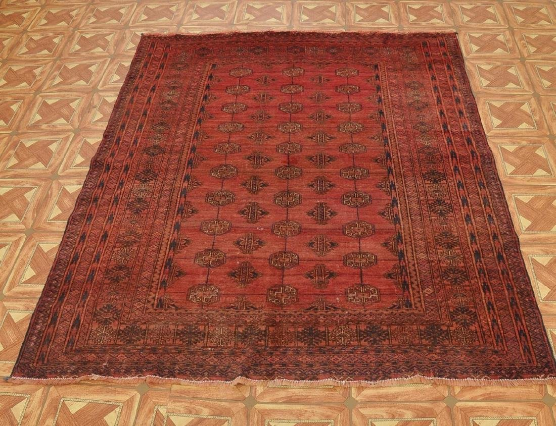 Semi-Antique Pakistan Bokhara Hand-Knotted Rug 4.5x5.8