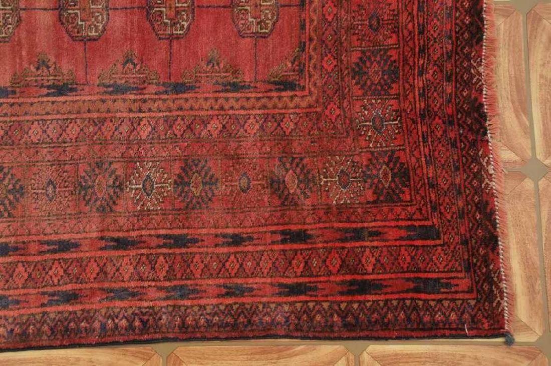 Semi-Antique Pakistan Bokhara Hand-Knotted Rug 4.5x5.8 - 2