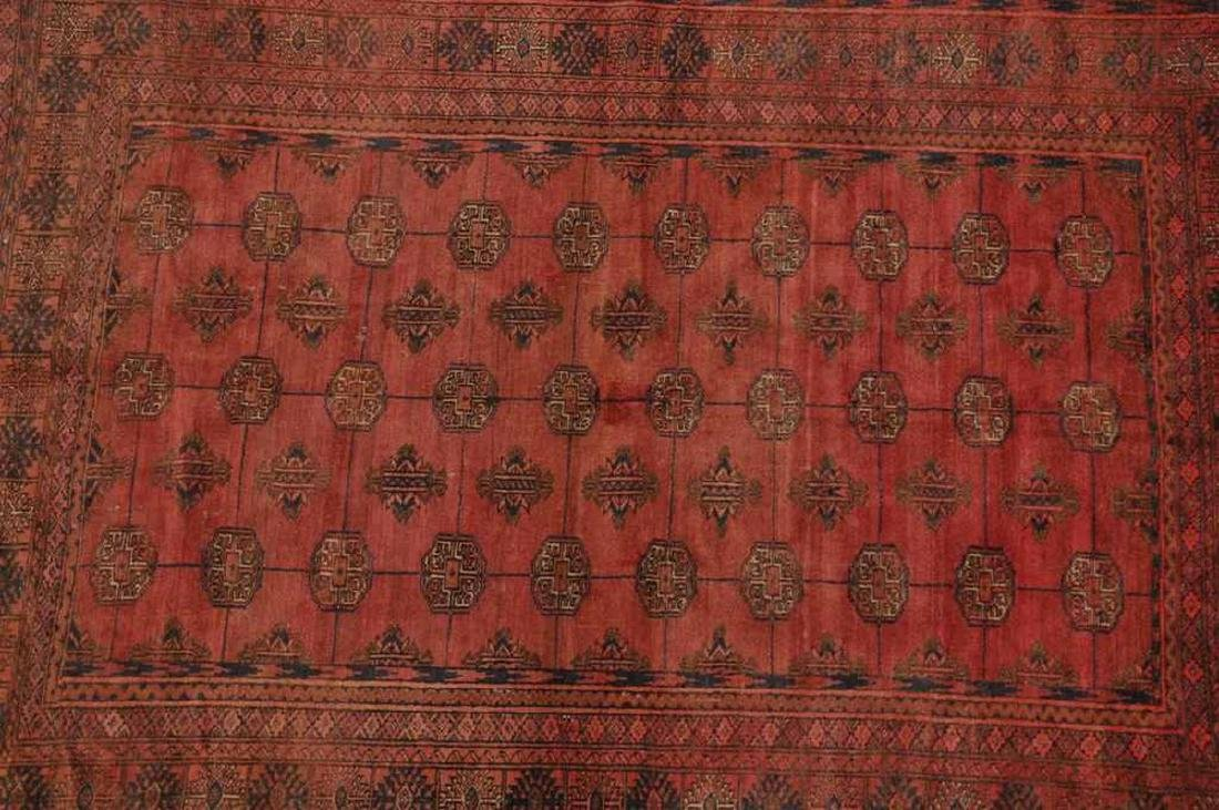Semi-Antique Pakistan Bokhara Hand-Knotted Rug 4.5x5.8 - 3