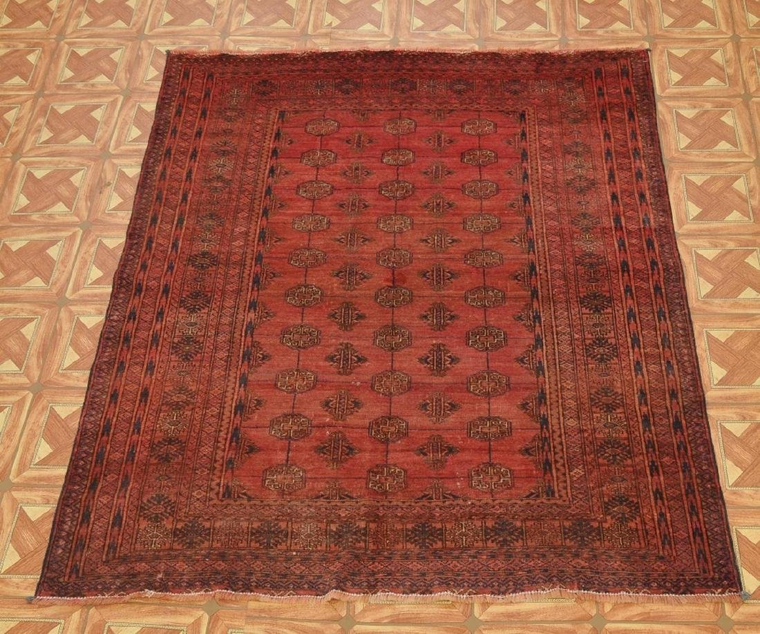 Semi-Antique Pakistan Bokhara Hand-Knotted Rug 4.5x5.8 - 6