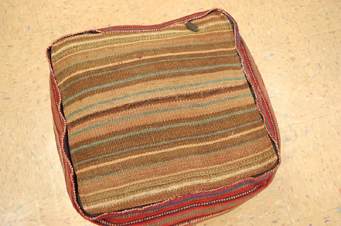 Silk Sumak Kilim Rug Wool Cushion Pillow 1.8x1.8x1.4 - 5