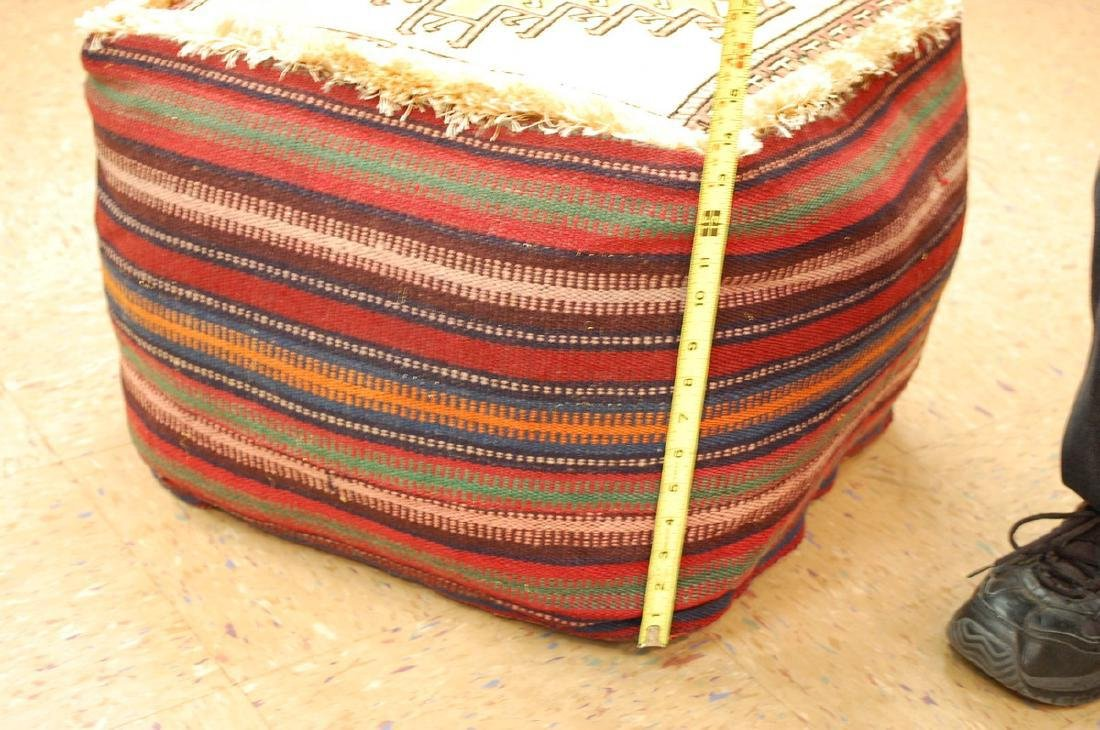 Silk Sumak Kilim Rug Wool Cushion Pillow 1.8x1.8x1.4 - 7