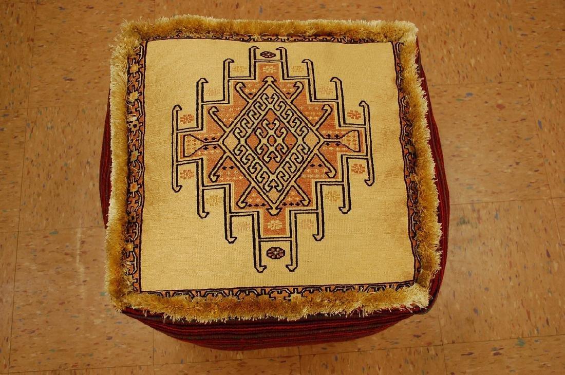 Silk Sumak Kilim Rug Wool Cushion Pillow 1.8x1.8x1.4