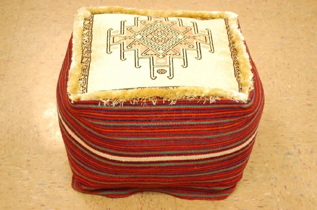 Silk Sumak Kilim Rug Wool Cushion Pillow 1.8x1.8x1.4 - 2