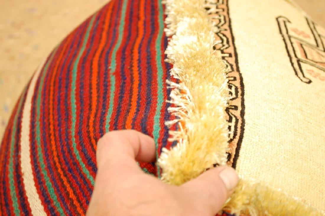 Silk Sumak Kilim Rug Wool Cushion Pillow 1.8x1.8x1.4 - 3