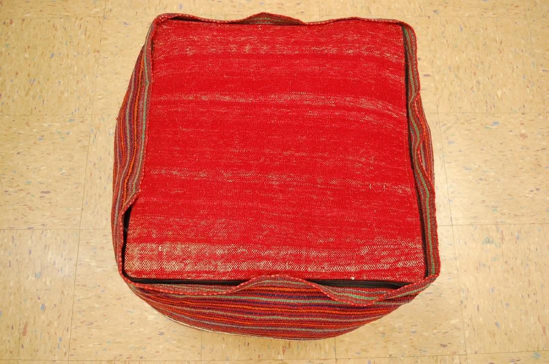 Silk Sumak Kilim Rug Wool Cushion Pillow 1.8x1.8x1.4 - 4