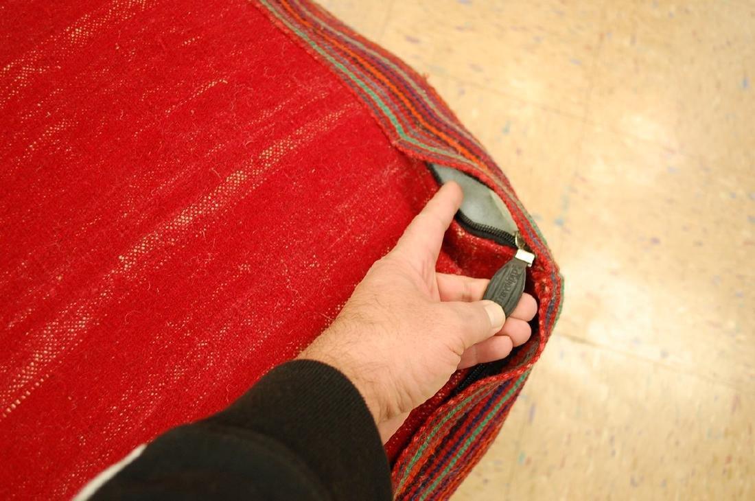 Silk Sumak Kilim Rug Wool Cushion Pillow 1.8x1.8x1.4 - 5