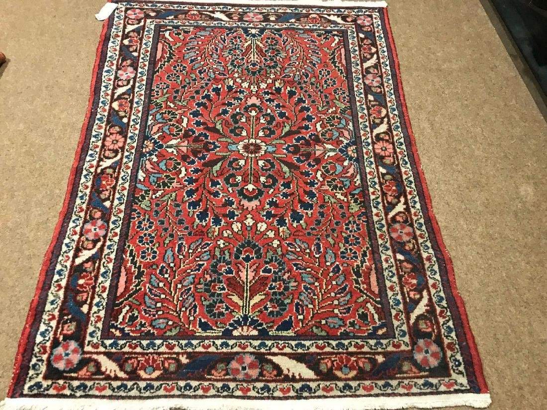 Antique Hand Woven Persian Lillian Rug 3.4x4.7 - 2