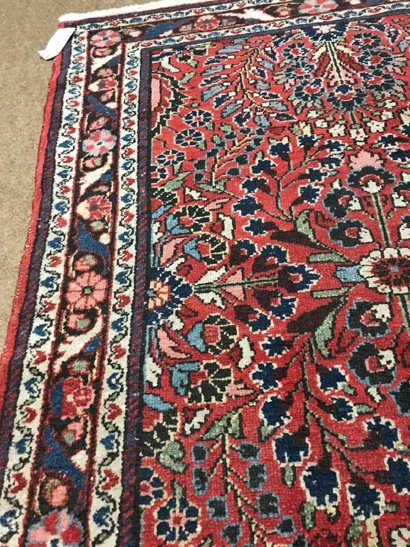 Antique Hand Woven Persian Lillian Rug 3.4x4.7 - 5