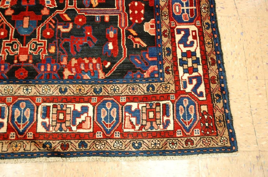 Detailed Design Fine Persian Malayer Rug 5.7x9.4 - 2