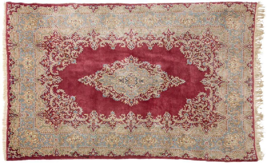 Persian Kerman Wool Area Rug 9.5x5.10