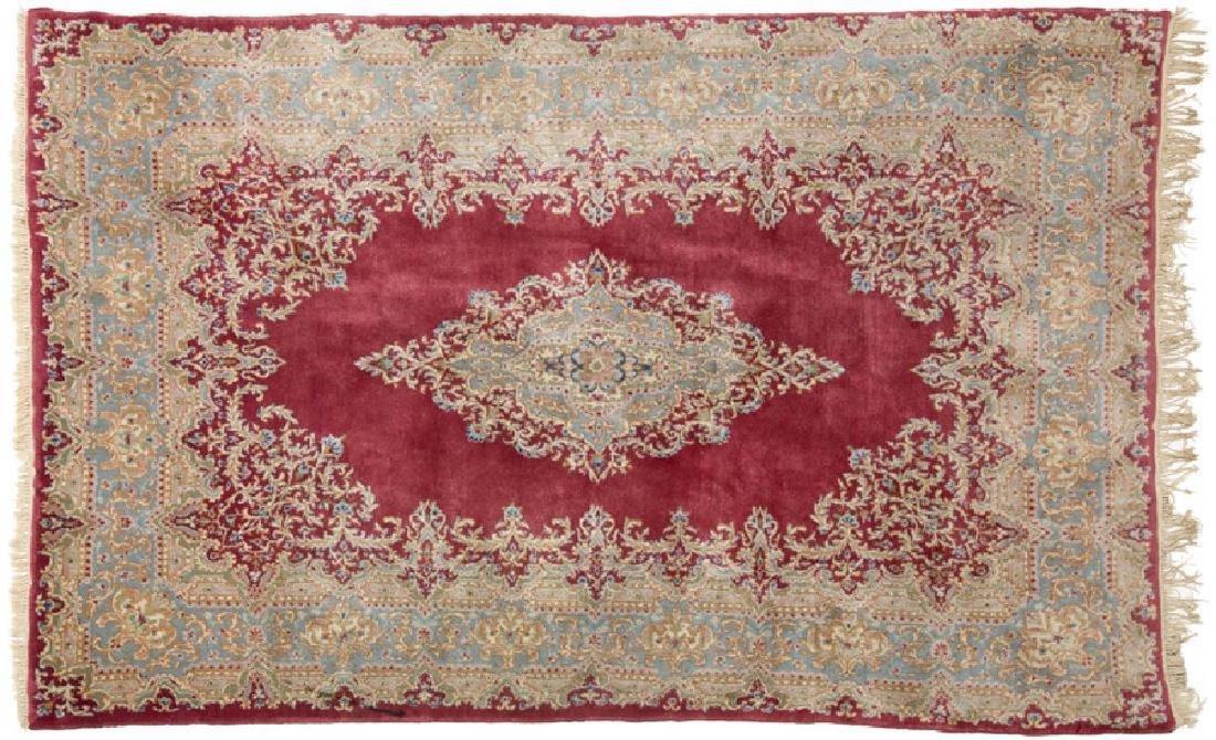 Persian Kerman Wool Area Rug 9.5x5.10
