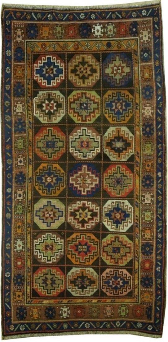 Persian North West Iran Tribal Hand-Knotted Rug 3.6x7