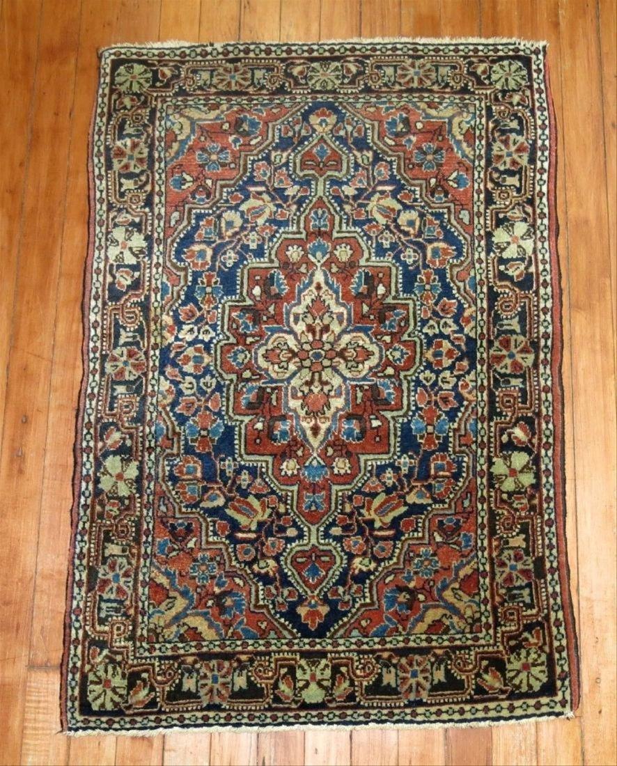 Antique Persian Sarouk Farahan Jozan Rug 2.1x3.1
