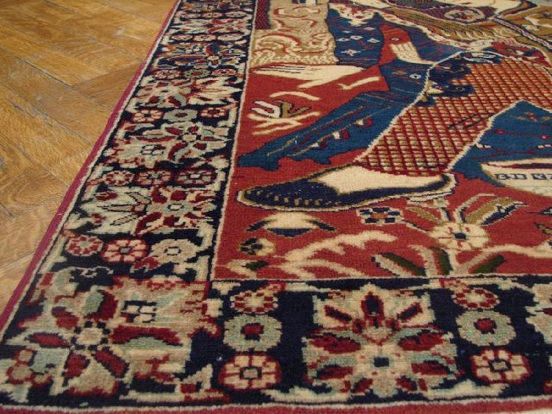 Pictorial Persian Tribal Baluch Hand-Knotted Rug 2.10x5 - 4