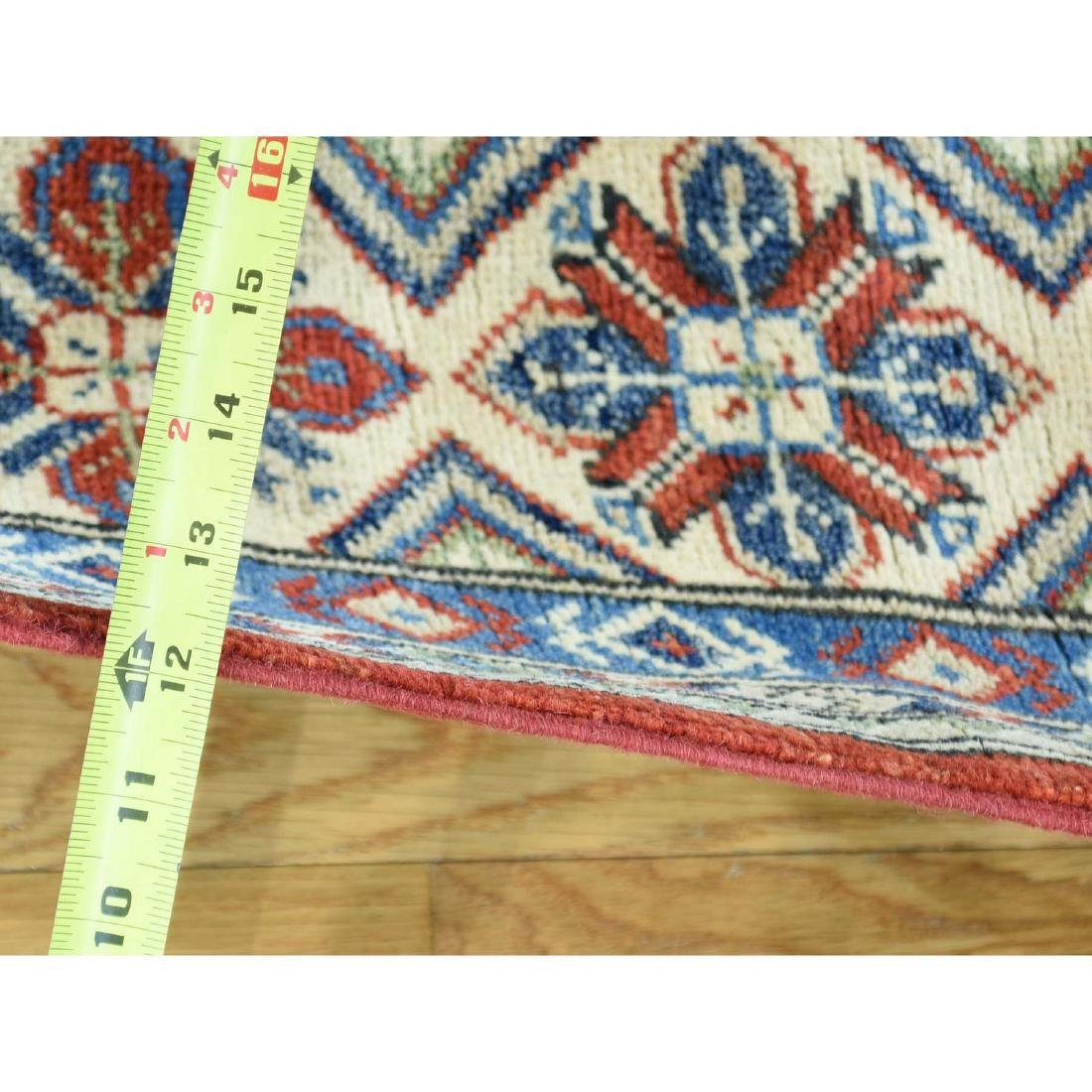 Hand-Knotted Kazak Square Tribal Design Rug 6.7x6.7 - 3