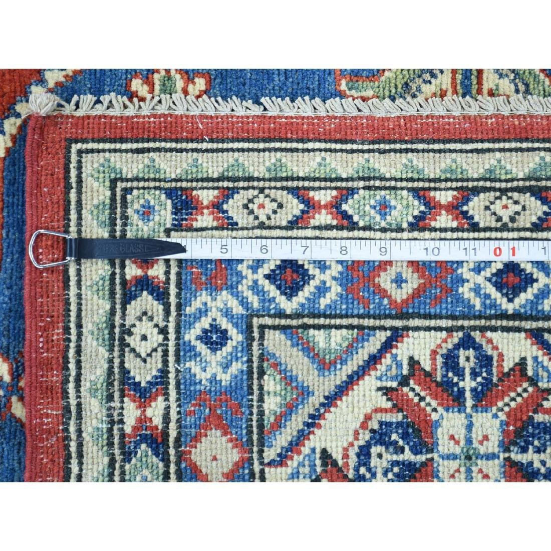 Hand-Knotted Kazak Square Tribal Design Rug 6.7x6.7 - 5