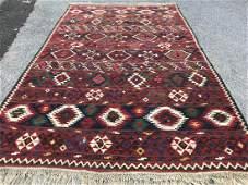Vintage Shirvan Caucasian Kilim Rug 66x106