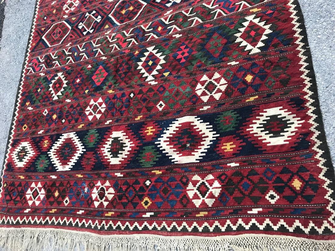 Vintage Shirvan Caucasian Kilim Rug 6.6x10.6 - 2