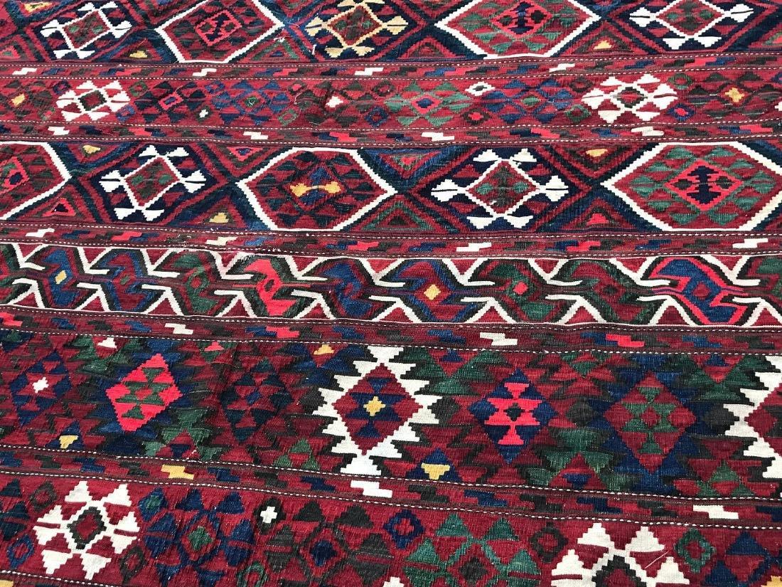 Vintage Shirvan Caucasian Kilim Rug 6.6x10.6 - 3