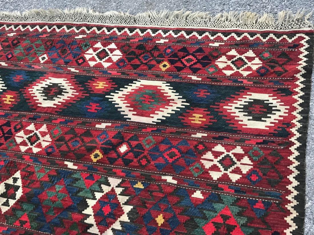 Vintage Shirvan Caucasian Kilim Rug 6.6x10.6 - 5