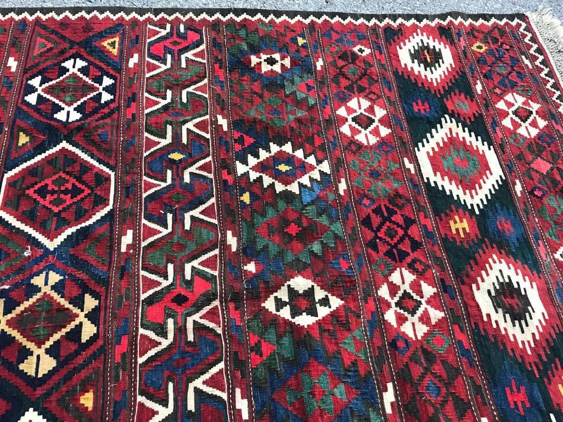 Vintage Shirvan Caucasian Kilim Rug 6.6x10.6 - 6