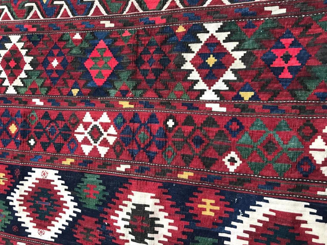 Vintage Shirvan Caucasian Kilim Rug 6.6x10.6 - 7